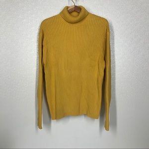 3/$15 Mustard Yellow Ribbed Turtleneck Sweater